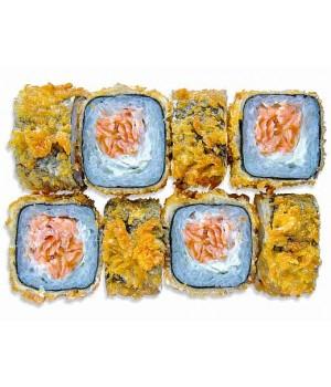 Теплый темпура ролл с лососем