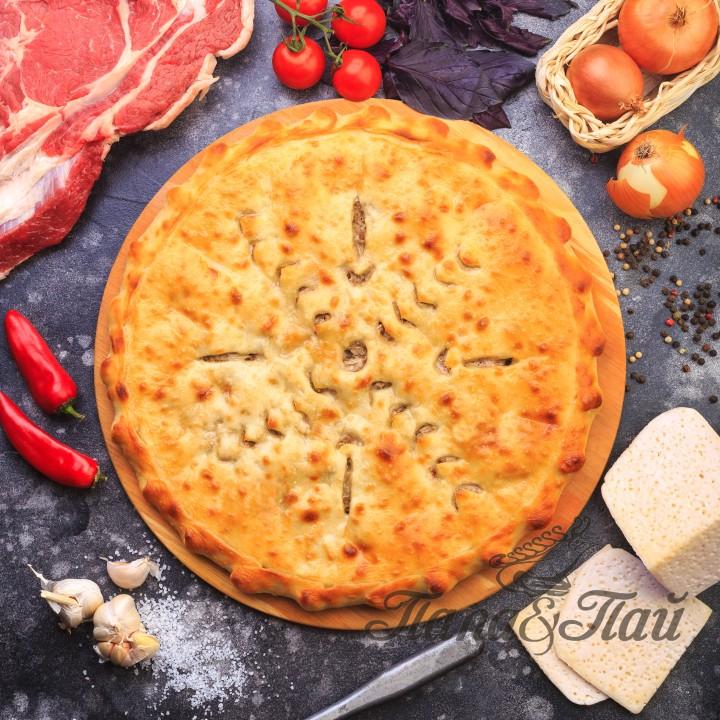 Осетинский пирог с сыром и мясом