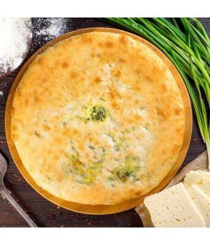 Осетинский пирог с  сыром и зеленым луком (Хъæдындзджын)